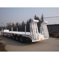 Buy cheap 3 Axle 60 Ton Low Bed Semi Trailer , Heavy Duty Flatbed Trailer With Mechanical Suspension from wholesalers