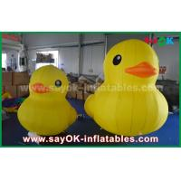 Buy cheap Promotion Lovely Big Yellow Inflatable Cartoon Duck With Customized Logo Print from wholesalers