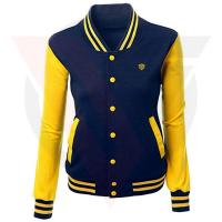 Buy cheap Autumn Women's Varsity Bomber Jacket Quick Dry Type Slim Fit Good Quilted from wholesalers