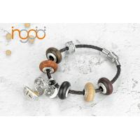 Buy cheap Fragrance wooden beads White  Gold Plated  Bracelet with CZ from wholesalers