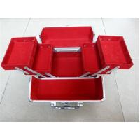 Buy cheap 2 Extend Trays Velvet Lining Professional Cosmetic Train Case Aluminum Large Size from wholesalers