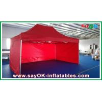 Buy cheap Oxford Cloth Durable Pop-up Tent Aluminum Frames Red With Printing product