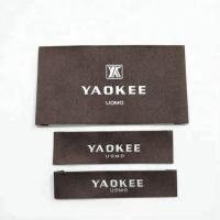 Buy cheap Garment labels and tags, brand name 100% polyester fabric woven labels for clothing with wash instruction from wholesalers
