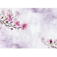 Buy cheap Plum Flower Pattern 3D Bamboo Wall Panels , TV Background Fiber Wall Panels from wholesalers