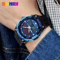 Buy cheap Big Size Durable Mens Digital Watches PU Strap Solar Power Sport from wholesalers