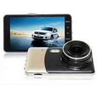 Buy cheap Car Dashcam with 5M Pixel CMOS Sensor, Car DVR, Full HD 1080P, 4.0 Inch IPS LCD with Dual Lens for Front & Rear view from wholesalers