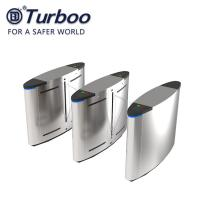 Buy cheap SUS304 Facial Recognition RFID Reader Flap Barrier Turnstile / Half Height Barrier Gate product