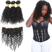 Buy cheap 100 Unprocessed Virgin Malaysian Hair 3 Bundles Water Wave With Lace Frontal from wholesalers