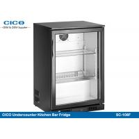 Buy cheap Built In Mini Beer Cooler Refrigerator , Black Outdoor Beverage Cooler Long Lifespan from wholesalers