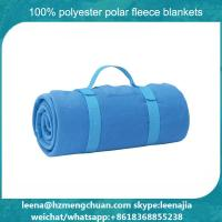 Buy cheap blue color with embroidery brand logo airline blanket travel on plane fire proof blanket from wholesalers