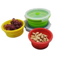 Buy cheap Collapsible Lunch Box, Silicone Food Storage Containers Eco Lunch Bento Box BPA-Free with Fork Spoon for Adults, Kids from wholesalers