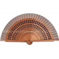 Buy cheap Single Color Wooden Hand Fans Hollowed Out Ribs , Sandalwood Hand Fans from Wholesalers