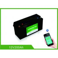 Buy cheap Lifepo4 Bluetooth Lithium Battery 12 Volt 200Ah 2000 Cycles Life With Heating Film from wholesalers