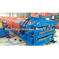 Buy cheap Full Automatic Double Glazed Tile Roll Forming Machine With Wave Pressing from wholesalers