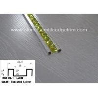 Buy cheap Polished Silver Glass Mosaic Tile Trim Aluminium Alloy Edge Corrosion Resistant from wholesalers