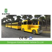 China Gasoline Power 62 Seats Mini Trackless Train 76 KW Rated Power CE Approved on sale