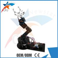 China Multi functional Diy Roboy Kit , Alloy 6 DOF Robot Arm Clamp Claw Swivel Stand Mount Kit on sale