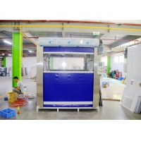 Buy cheap PVC Curtain Door Infrared Induction Air Shower Pass Box 25-27m/S Speed product