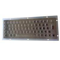 Buy cheap IP65 oil proof full key travel industrial metallic keyboard with 64 keys and  short USB cable from wholesalers