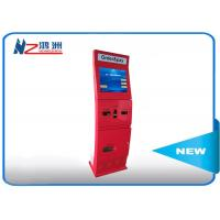 Buy cheap Free standing intelligent Ticket Vending Kiosk with camare / ticket vending dispenser from wholesalers