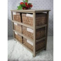 Buy cheap Living Room Furniture Home Organizer Straw Basket Cabinet Sideboard from wholesalers