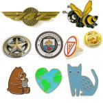 Buy cheap Custom made various design metal badges like flag enamel football military anime bee beer cat cap star shape gold wing p from wholesalers
