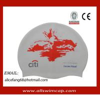 Buy cheap Adult RUBBER silicone customized swimming hats from wholesalers