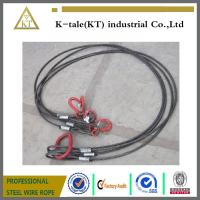Buy cheap Heavy trailer towing cable black steel wire rope sling /rigging from wholesalers