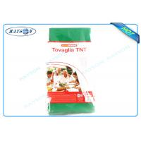 Buy cheap Green Cutting Piece 45 Gr / 50gr Non Woven Tablecloth Products For Hotel / Wedding Party from wholesalers