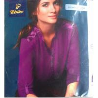 Buy cheap Good quality women apparel stock lots Plus size ladies Modal stretch casual business shirt from wholesalers