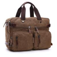 Buy cheap Dual Use Canvas Office Laptop Bags ,  15 Inch Laptop Messenger Bags School Use Durable from wholesalers