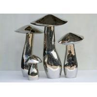 Home Art Decoration Mushroom Garden Sculptures Stainless Steel Anti Corrosion