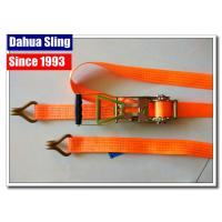 Rubber Handle 2 Inch Ratchet Straps With Flat Hooks Mini