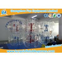 Buy cheap Clear inflatable body bumper ball Human Bubble Soccer , Bubble Football from wholesalers