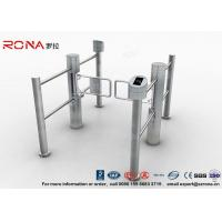 Buy cheap Double Core Biometric Pedestrian Security Gates Stainless Steel With Access product