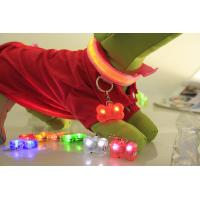 Buy cheap PET LED flashing collar necklace Buckle Safety Night Light bone dog ID tag Pendant from wholesalers