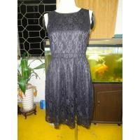Black Rose Lace Round Neck Womens Casual Summer Dresses With Back Hole
