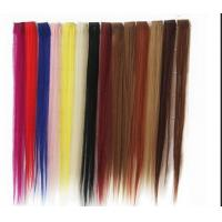 Buy cheap Synthetic Fibre Hair Extensions Straight Double Drawn Human Hair Wefts from wholesalers