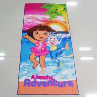 Buy cheap Multi Purpose Microfiber Beach Towels Dora Adventures Pattern For Car Cleaning from wholesalers