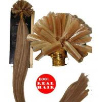 Buy cheap Noble remy pre bonded fusion hair u tip curly hair extensions from wholesalers