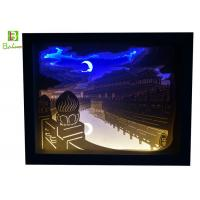 Buy cheap Retail Display Props Papercut Backlit Lamp Forbidden City Night View product