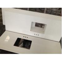 Buy cheap Residential Bathroom vanity top remodelling Customized engineering Quartz Stone Countertops from wholesalers