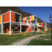 Buy cheap Orange Prefabricated Shipping Container Homes For Flatpack Office Living Room Residential from wholesalers
