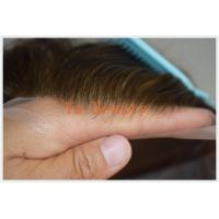 Buy cheap TOUPEE Swiss lace human hair mens toupees,100% Virgin Remy hair TOUPEE from wholesalers
