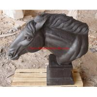 Buy cheap black marble horse head statue from wholesalers