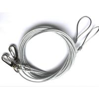 China Durable Transparent Steel Wire Rope Slings Assembly 7*7 7*19 With Hook / Clips on sale