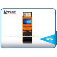 Self Service Bill Payment Ticket Vending Kiosk With Card Dispenser Dual Screen