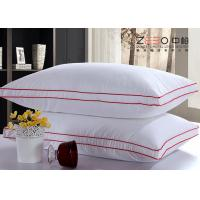 Buy cheap Microfiber Filling White Hotel Comfort Pillows 100% Cotton Fabric Material from wholesalers