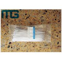 Buy cheap White Cable Ties Free Sample , Self Locking Reusable Tie Wraps With Length Customized from wholesalers