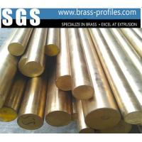 Buy cheap C38500 Alloy Copper Bar With Round Shape / Extruding Brass Profiles from wholesalers